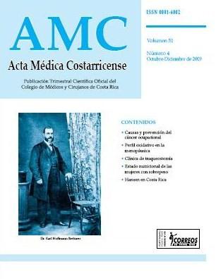 Ver Vol. 51 Núm. 4 (2009): Acta Médica Costarricense Octubre-Diciembre 2009